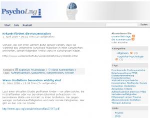 PsychoLog - das Weblog des Sondersammelgebietes Psychologie
