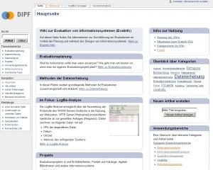 Wiki zur Evaluation von Informationssystemen (Evalinfo)