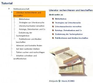 Recherchetutorial Politikwissenschaft aus LOTSE in der ViFaPol