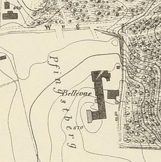 Karte der Stadt Bergedorf 1875 – Ausschnitt-Bellevue