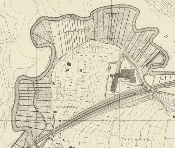Karte 1875 Ausschnitt