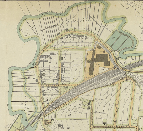 Karte 1905 Ausschnitt
