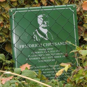 Gedenktafel Chrysander