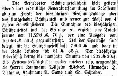 Bericht über Gen.Vers.; 24.09.1887, Nr. 122, S. 1, Sp. 1