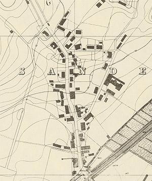 1875 Karten-Ausschnitt Sande