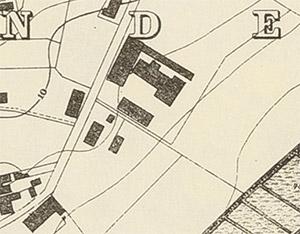 Eisenwerk Kartenauschnitt 1875