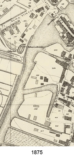 Kartenausschnitt Hafen 1875