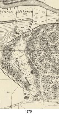 Kartenausschnitt Schießthal 1875