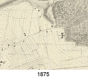 Karte Villenviertel 1875