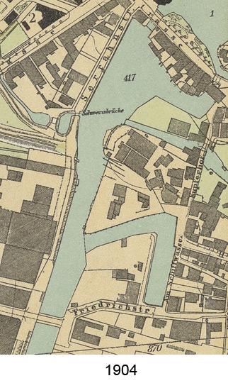Kartenausschnitt Hafen 1904