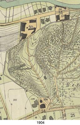 Kartenausschnitt Schießthal 1904