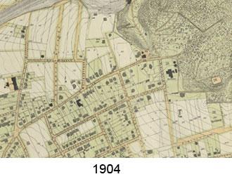 Karte Villenviertel 1904