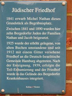 Gedenktafel Jüdischer Friedhof
