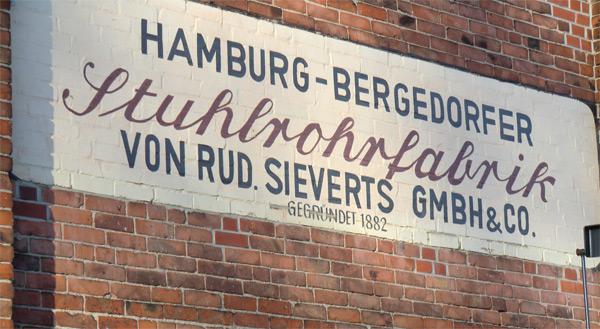 Schild Stuhlrohrfabrik