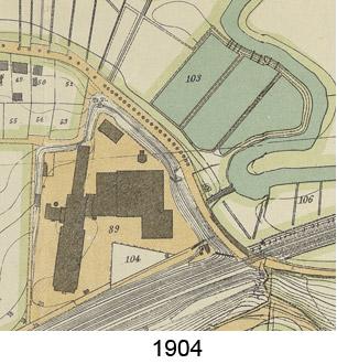 Kartenausschnitt 1904 bei 'Actienbrauerei'