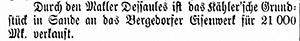Vierländer Nachrichten, 28.05.1887, S. 1 Sp. 1