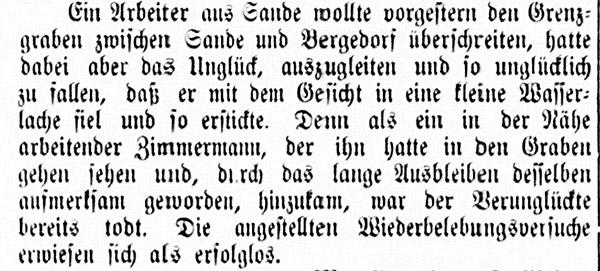 Vierländer Nachrichten No. 56, 14.05.1887, S. 1 Sp. 1