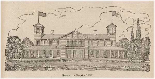 Frascati zu Bergedorf 1842, Quelle: Bergedorfer Schlosskalender 1927