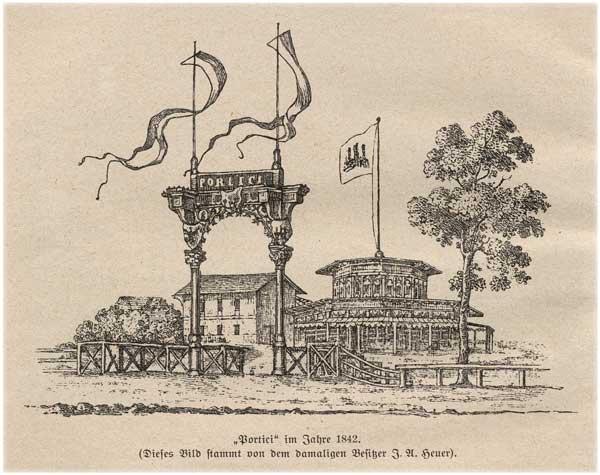 Abb. aus Bergedorfer Schlosskalender 1927: 'Portici' im Jahre 1842