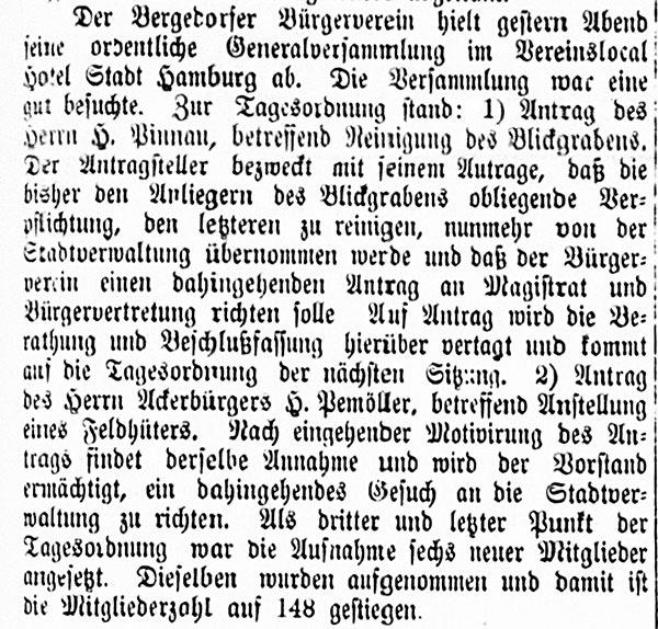 Vierländer Nachrichten vom 05.11.1887, No. 130, S. 1
