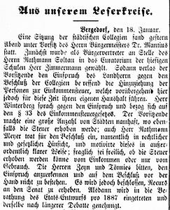 Vierländer Nachrichten 18.01.1887 (No. 7)
