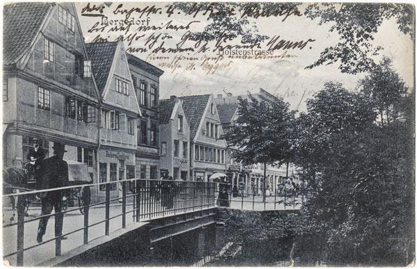 Mühlenbrücke im frühen 20. Jahrhundert