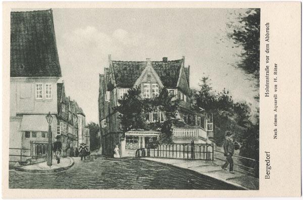 Bergedorf. Holstenstraße vor dem Abbruch