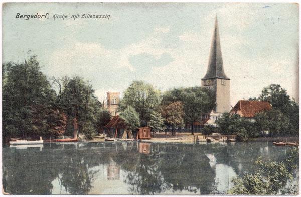 Bergedorf, Kirche mit Billebassin