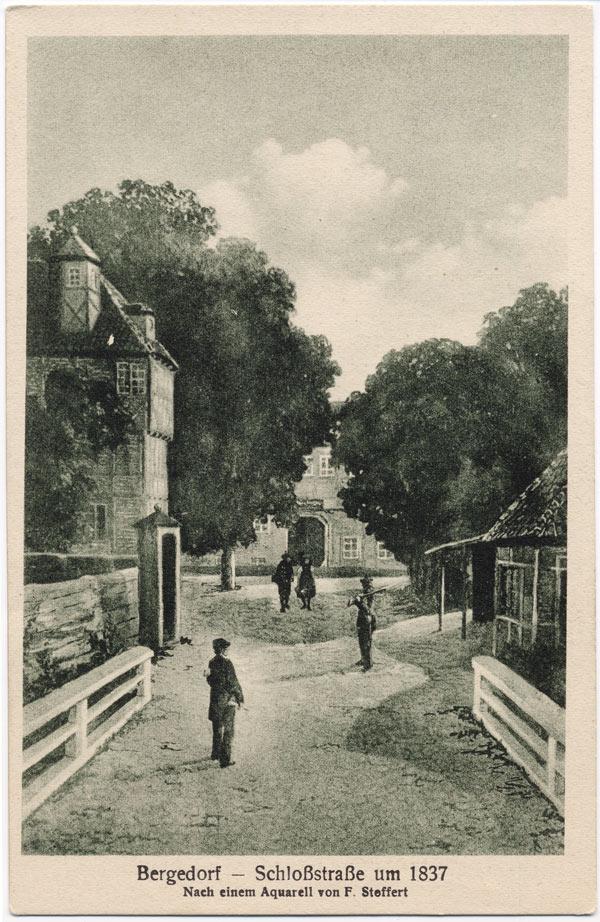 Bergedorf – Schloßstraße um 1837
