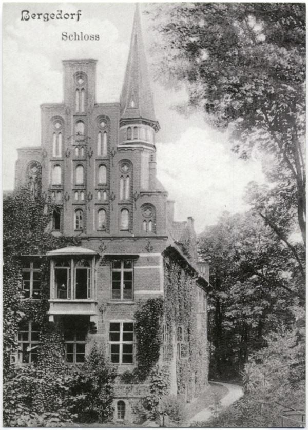 Schloss Bergedorf, Südostecke, Aufnahme um 1907. Wiedergabe mit freundlicher Genehmigung des Museums für Bergedorf und die Vierlande