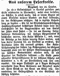 Vierländer Nachrichten 1888, 25.10.88, No. 126