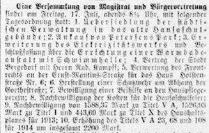 Bergedorfer Zeitung, 15. Juli 1914