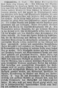 Bergedorfer Zeitung, 3. September 1915
