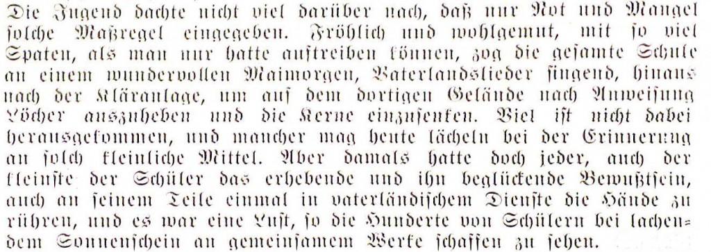 aus: Prof. Dr. (Ferdinand) Ohly: Die Hansa-Schule während des ersten Jahrzehnts im neuen Schulgebäude 1914/15 - 1924/25, Bergedorf 1925, S. 24f.