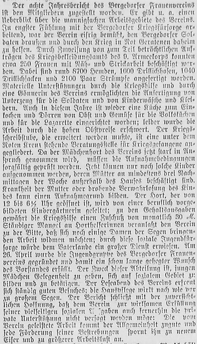Bergedorfer Zeitung, 15. November 1916