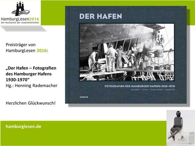 Der Hafen. Fotografien des Hamburger Hafens 1930-1970. Preisträger HamburgLesen 2016
