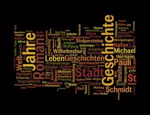 Wordle - eine Wortwolke aus den 300 Titeln der Longlist
