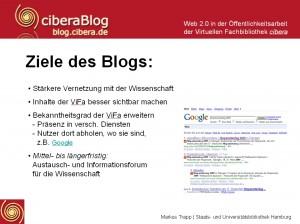 Ziele des ciberaBlogs