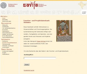 Forscher- und Projektdatenbank Suedasien