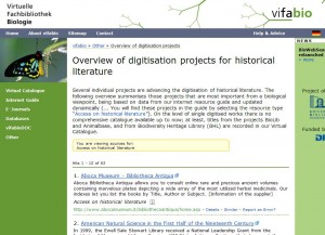 Bildschirmfoto: vifabio-Liste