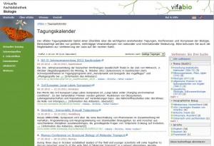 vifabio-Tagungskalender (Bildschirmfoto)