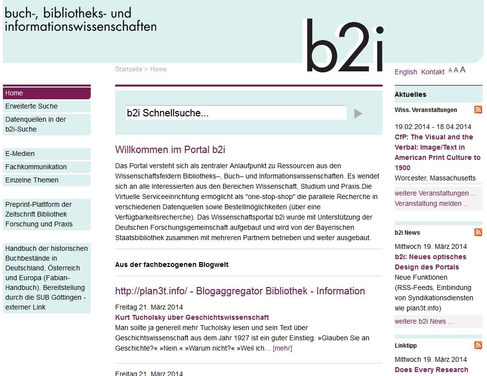 b2i neue Homepage